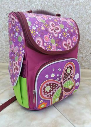 Рюкзак школьный 1 вересня butterfly для девочки 1-4 кл