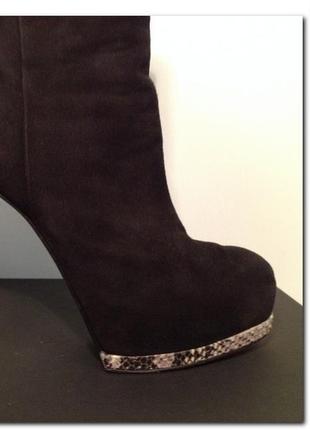 Ботинки замшевые высокий каблук