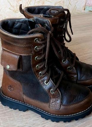 Крутые кожаные деми ботинки timberland,29 размер.