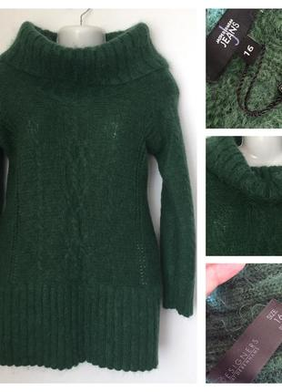 Тёплый полушерстяной свитер(мохер) jasperconran jeans 16