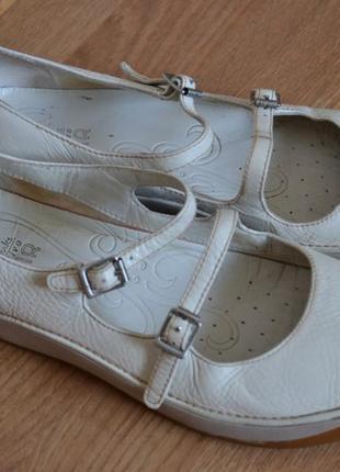 Туфли-балетки-мокасины clarks active air.натуральная кожа.