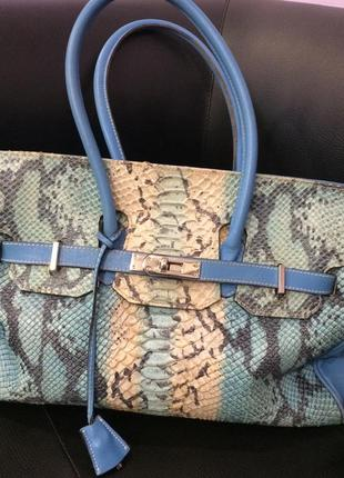 Кожаная сумка с кожи питона, италия