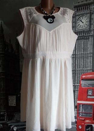 Пудрова сукня з камінчиками, великий розмір, батао
