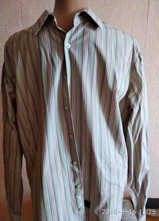 Рубашка легкая длинный рукав french connection xl.