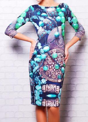 Платье инди (очень интересный принт)