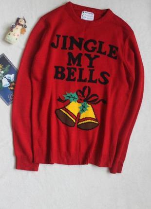 Классный новогодний свитер, размер l