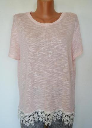 Блуза, футболка с кружевом atmosphere