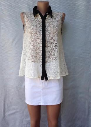 Нежная кружевная блуза