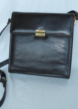 Nicoli италия кожаная сумка длинная ручка держит форму