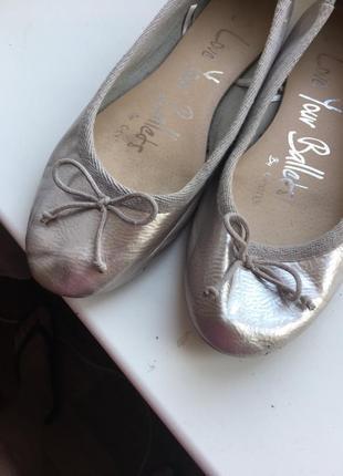 Серебристые балетки 39pp george