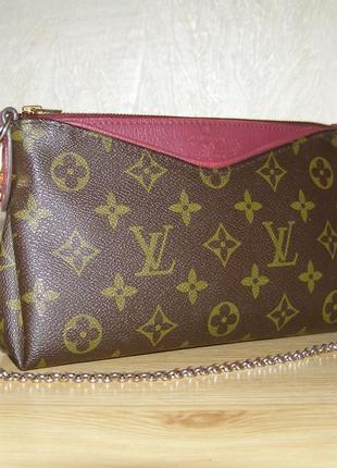 Фирменный клатч люкс класса от louis vuitton pallas monogram  bag, номер са4185