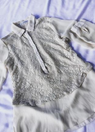 Блуза нейлон з гип'юром