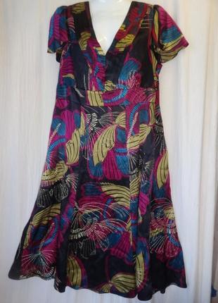 Платье monsoon шелк натуральный