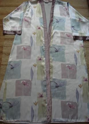 Красивый длинный домашний халат на запах