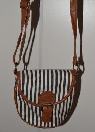 Сумка через плече сумочка в полоску