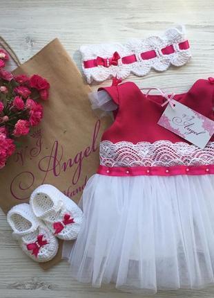 Сукня для дівчинки. набір для новонародженої.