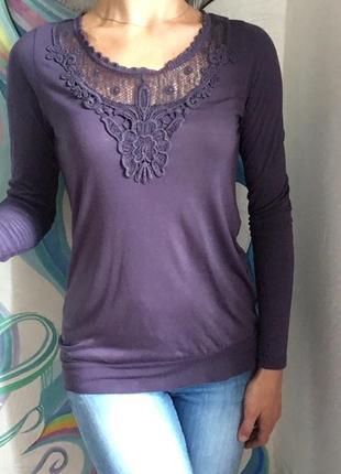 Блуза шикарного сливового цвета с красивым кружевом от only limitless