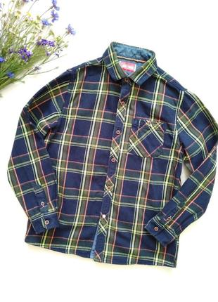 Яркая плотная рубашка next на 10 лет