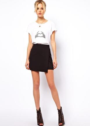 Ассиметричная юбка с запахом