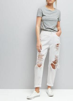 Білі джинси new look tori mom розмір 8/36