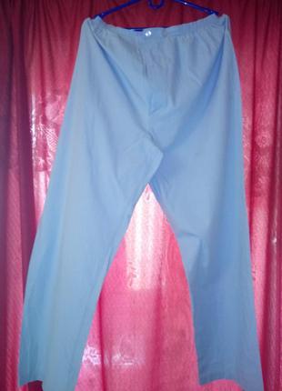 🌙домашние пижамные голубые брюки