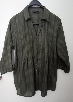 Рубашка большого размера 100% хлопок