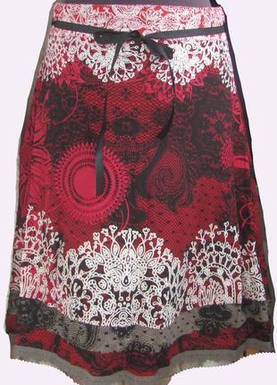 Стильная юбка бренда desigual 100% вискоза