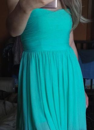 Нежное платье мятного цвета