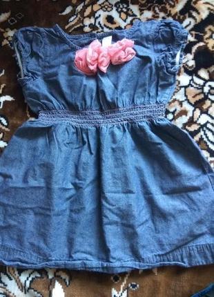 Джинсовое платье cherokee, на 2 года