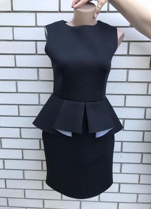 Чёрное,неопреновое платье,сарафан с баской,рюшей,воланом