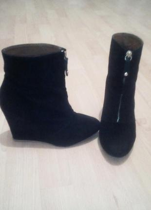 Замшевые демисезонные ботинки ,zara