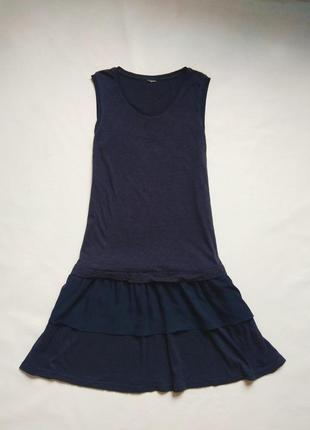Хлопковое платье с оборками