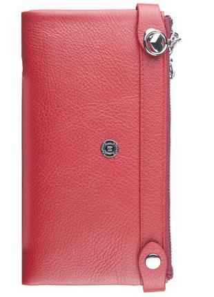 Кошелек женский кожаный boston 215 red