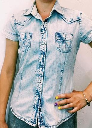 Винтажная джинсовая рубашка wrangler