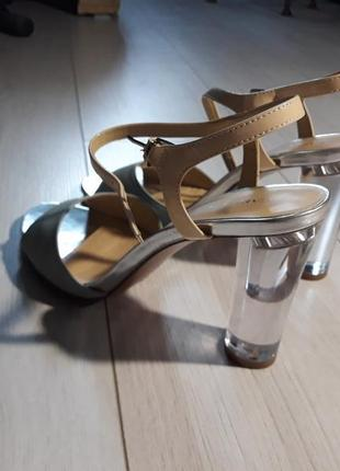 Босоножки туфли carlo pazolini прозрачный каблук