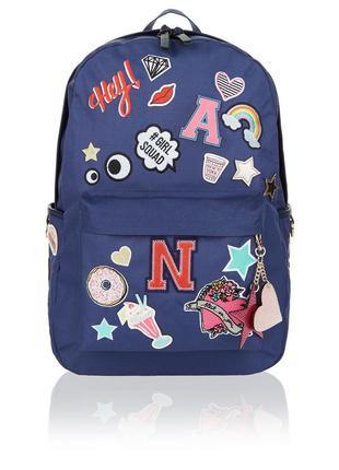 Аccessorize красивый рюкзак с вышивкой нашивками стикерами единорог