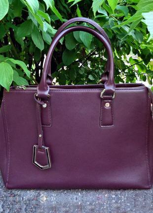Брендовая сумка antonio biaggi из натуральной кожи