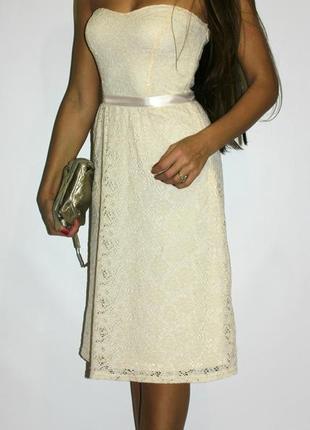 Кружевное ажурное платье asos