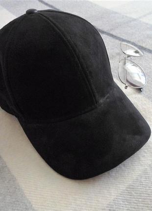 Кепка/бейсболка h&m черного цвета размер 54