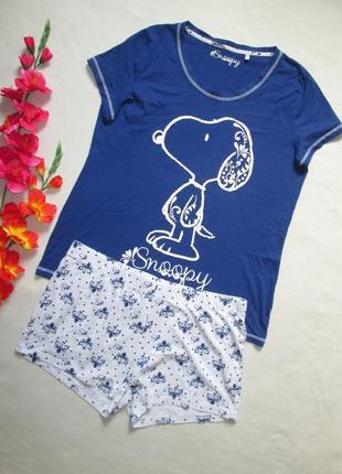 Пижама домашний костюм футболка + шорты снупи snoopy 100% коттон  c&a