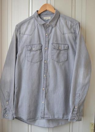 River island крутая джинсовая рубашка