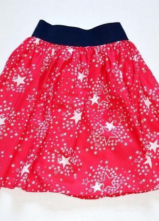 Хлопковая юбка в звёзды на широкой резике