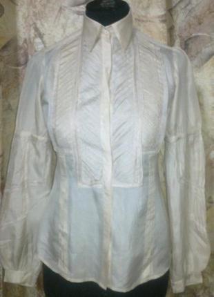 Шелковая нюдовая красотка рубашка блуза zara