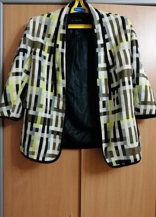 Стильный пиджак  кардиган zara basic, размер s,  made in morocco