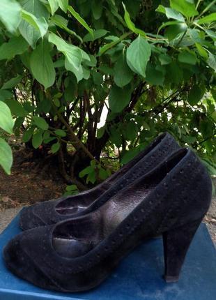 Итальянские замшевые туфли airstep