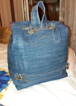 Рюкзак джинсовый2 фото