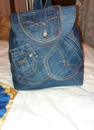 Рюкзак джинсовый4 фото