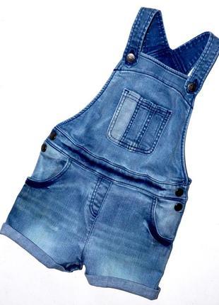 M&s. шикарный джинсовый комбинезон на 5-6 лет.рост 116 см.  99% хлопок