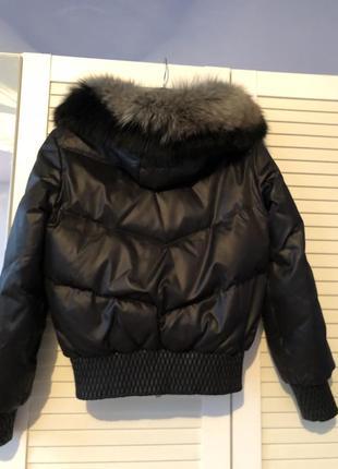 Зимняя куртка с мехом песца