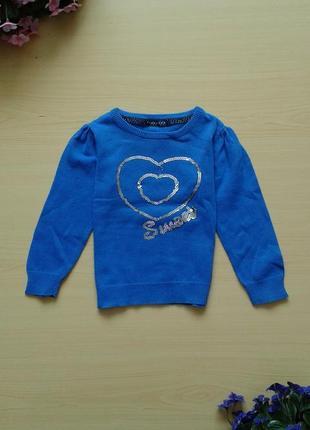 Тонкий свитер с пайетками next, 86-92